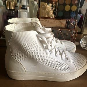 All white high tops